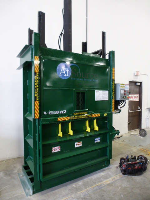 Vertical Balers Commercial Recycling Atsource Recycling